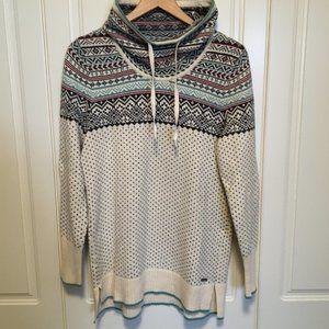 Eddie Bauer nordic fair isle cowl neck sweater M